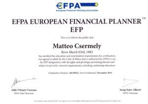certificato EFP